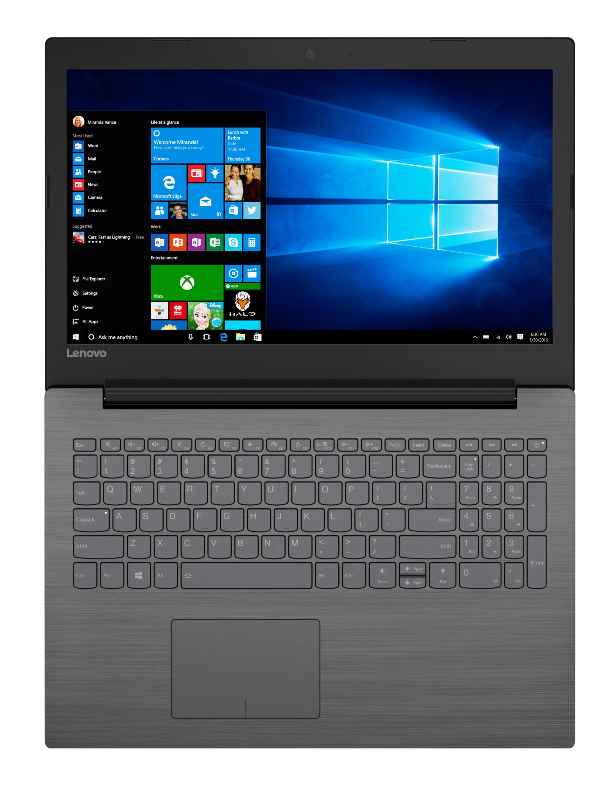 Фото  Ноутбук Lenovo ideapad 320-15ISK Onyx Black (80XH022SRA)