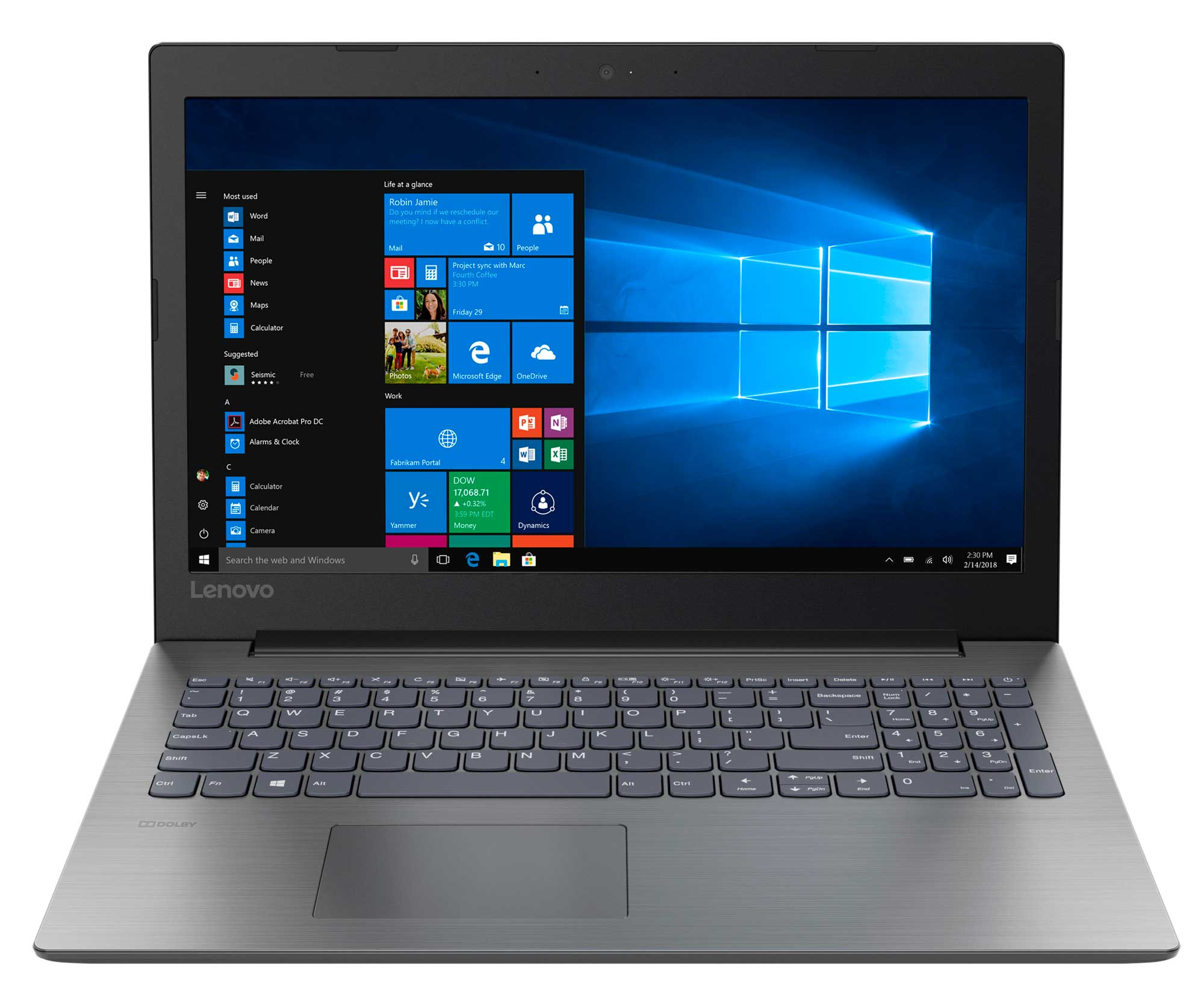 Фото  Ноутбук Lenovo ideapad 330-15 Onyx Black (81DE01FSRA)