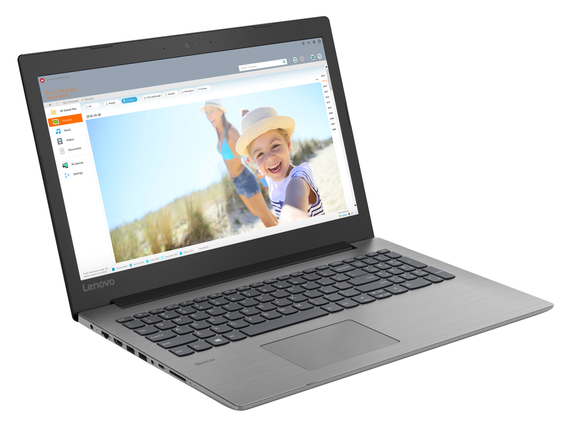 Фото  Ноутбук Lenovo ideapad 330-15 Onyx Black (81D100HPRA)