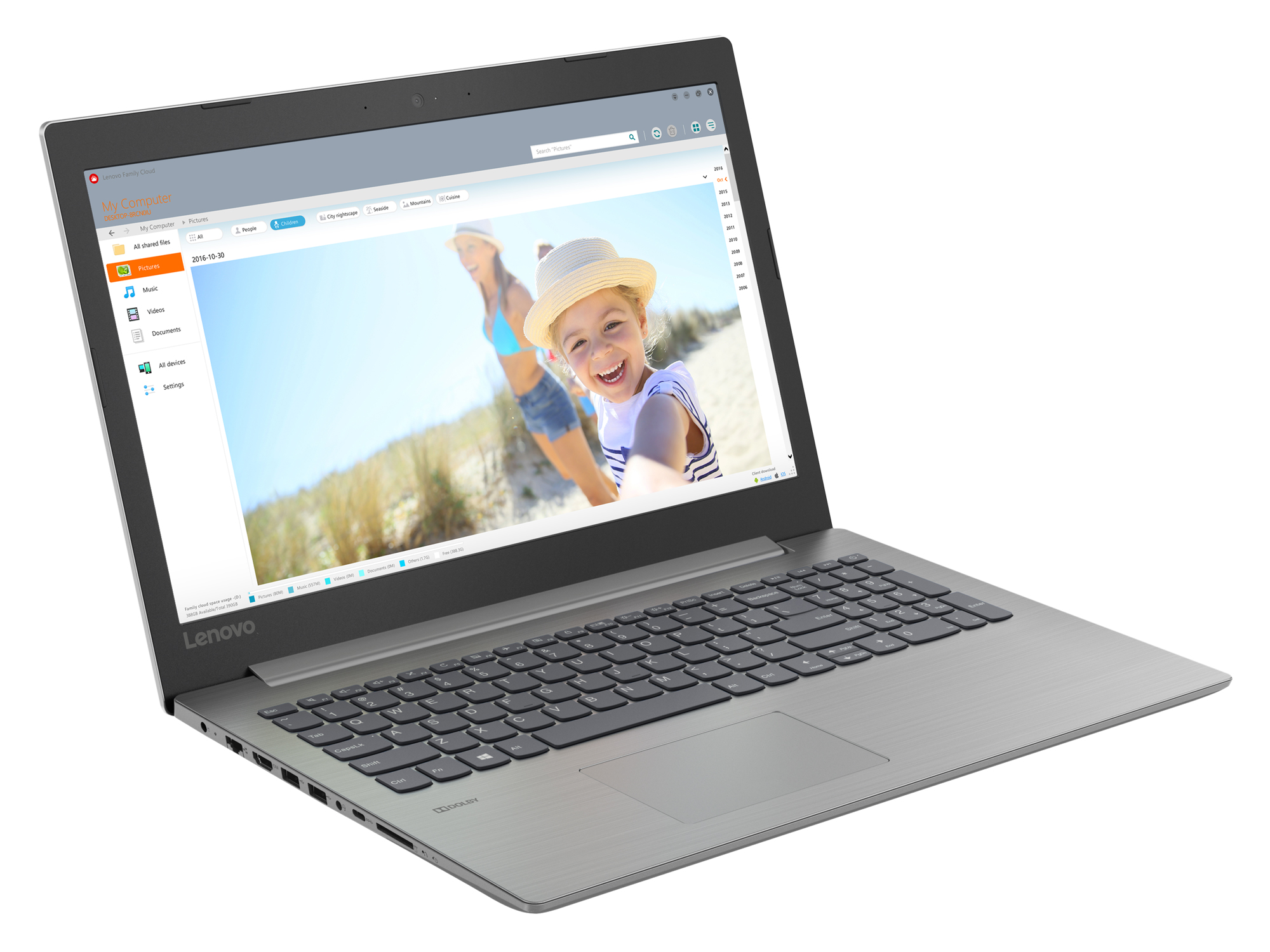 Фото  Ноутбук Lenovo ideapad 330-15 Platinum Grey (81D100M1RA)