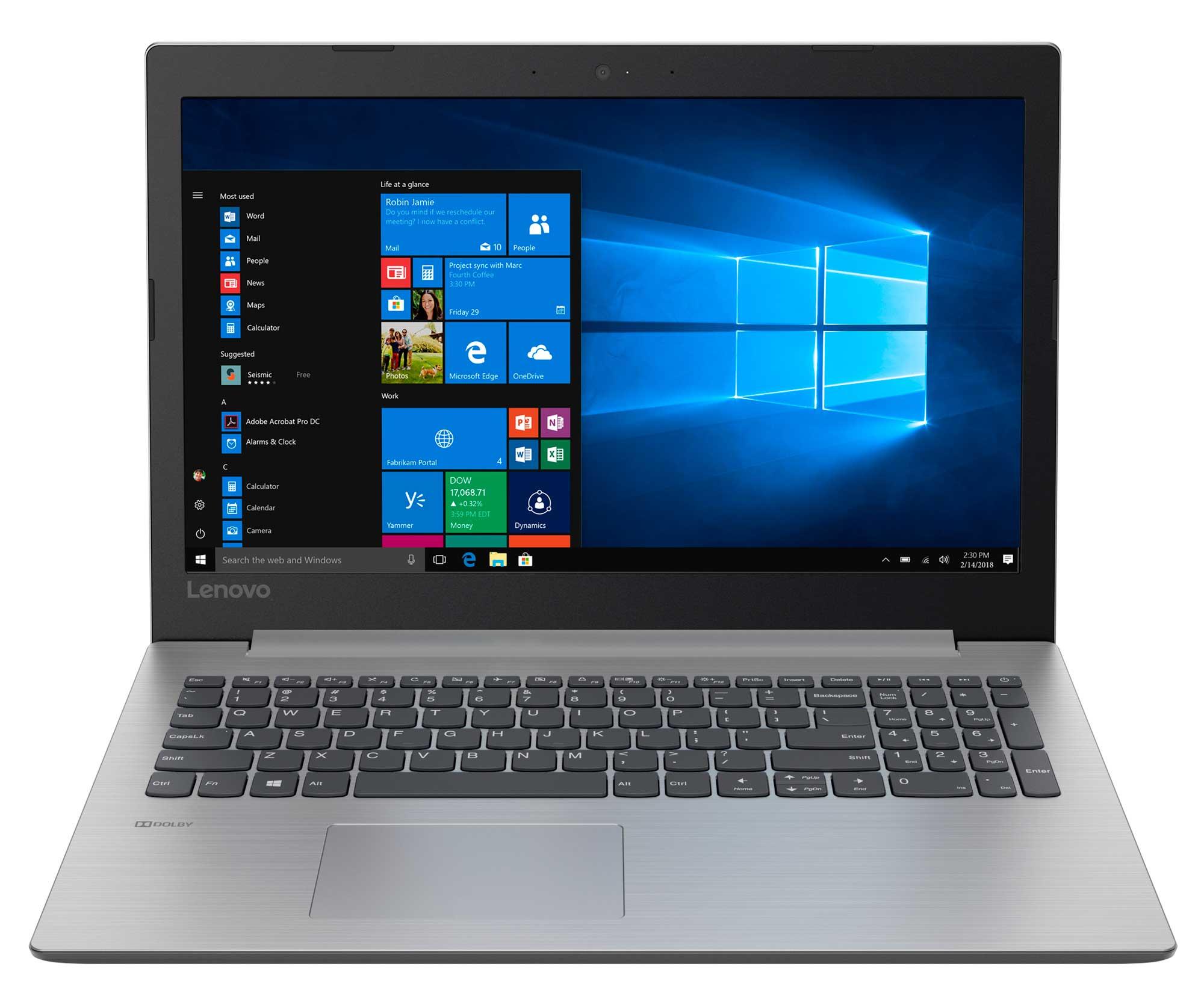 Фото  Ноутбук Lenovo ideapad 330-15 Platinum Grey (81D100HBRA)