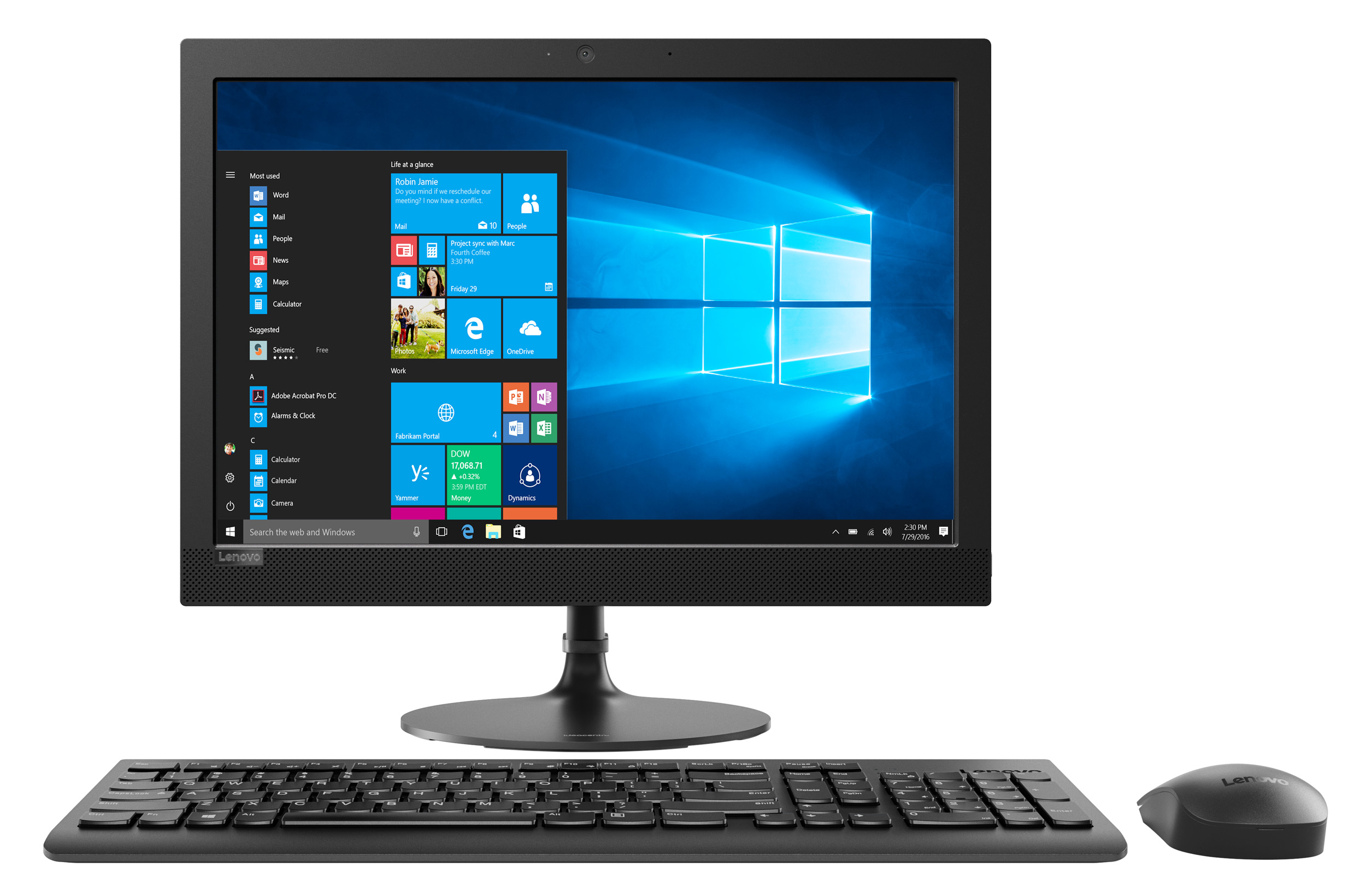 Фото  Моноблок Lenovo ideacentre 330-20 (F0D8004YRK) Black