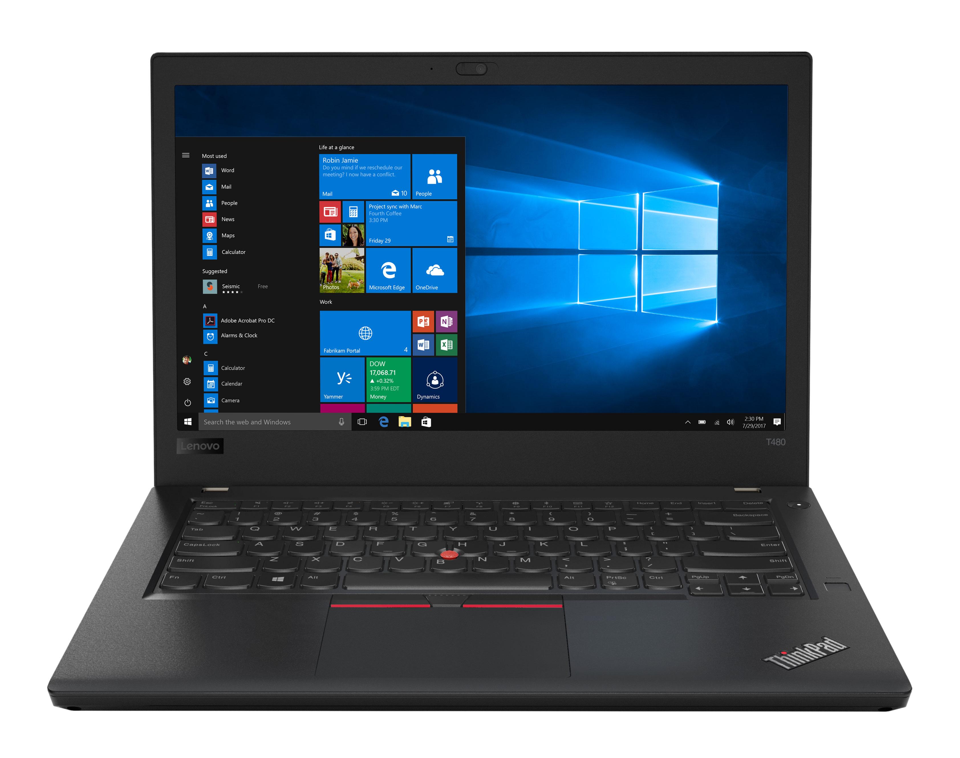 Фото  Ноутбук ThinkPad T480 (20L6SEWV00)