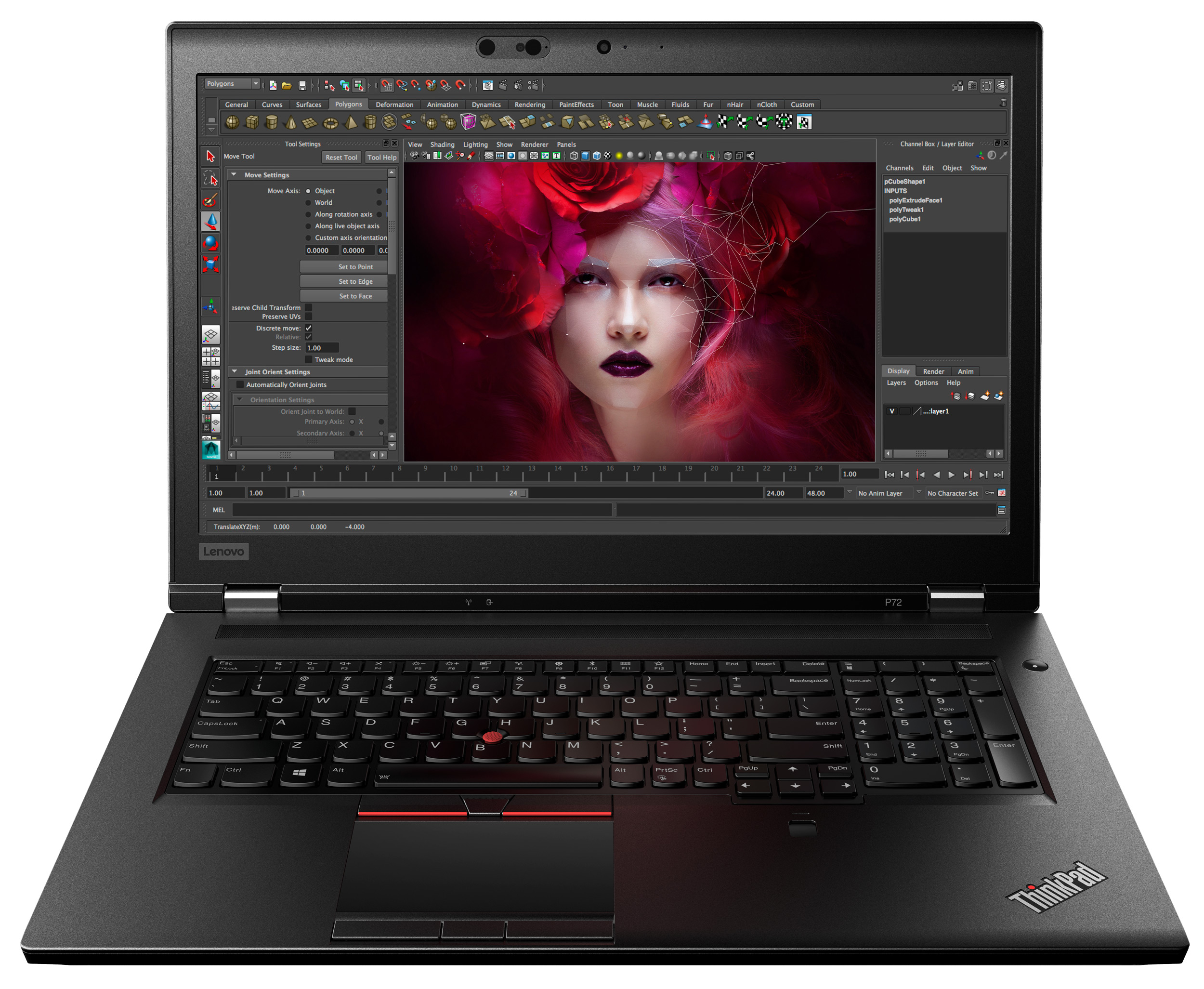 Фото  Ноутбук ThinkPad P72 (20MB0003RT)