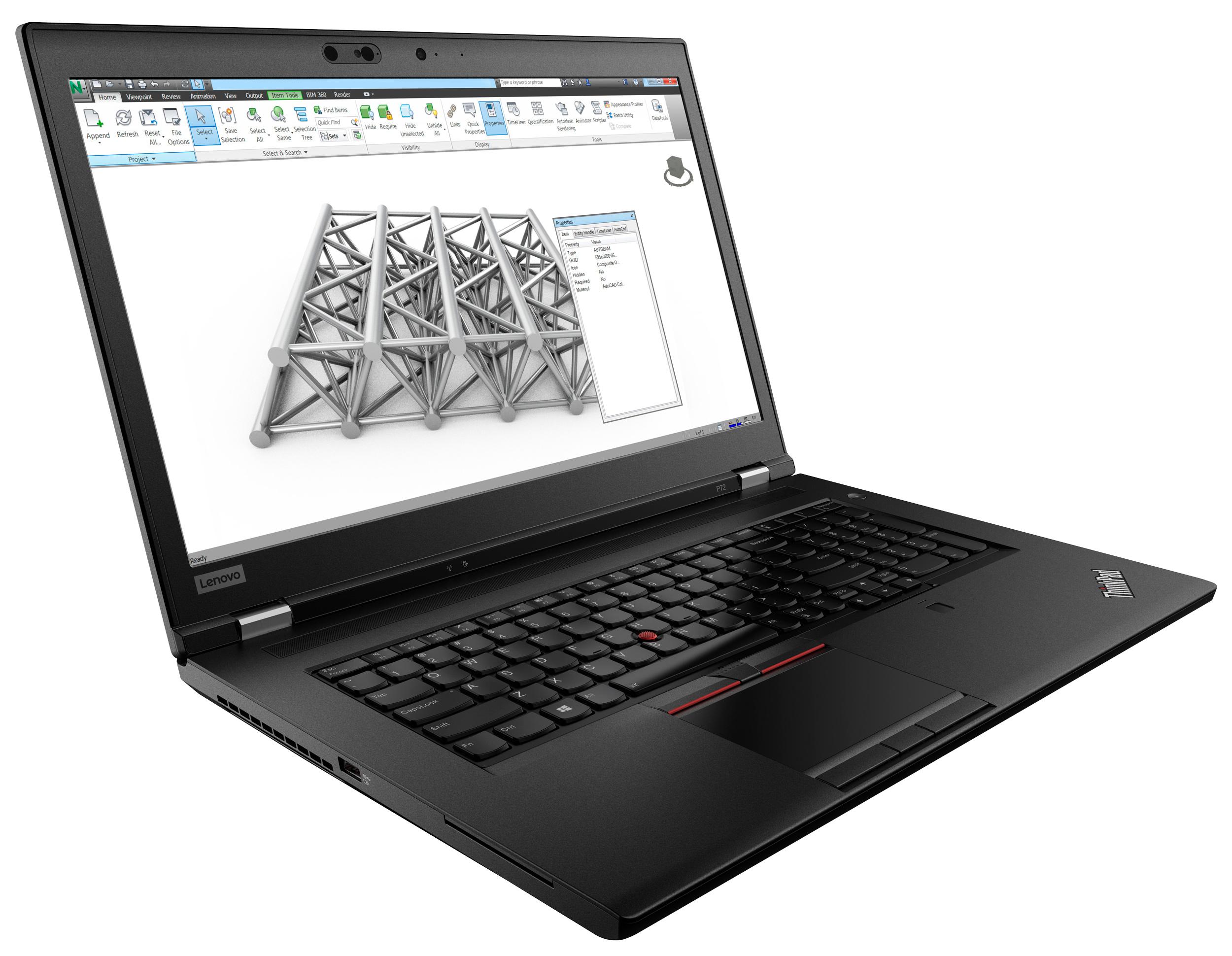 Фото  Ноутбук ThinkPad P72 (20MB000QRT)