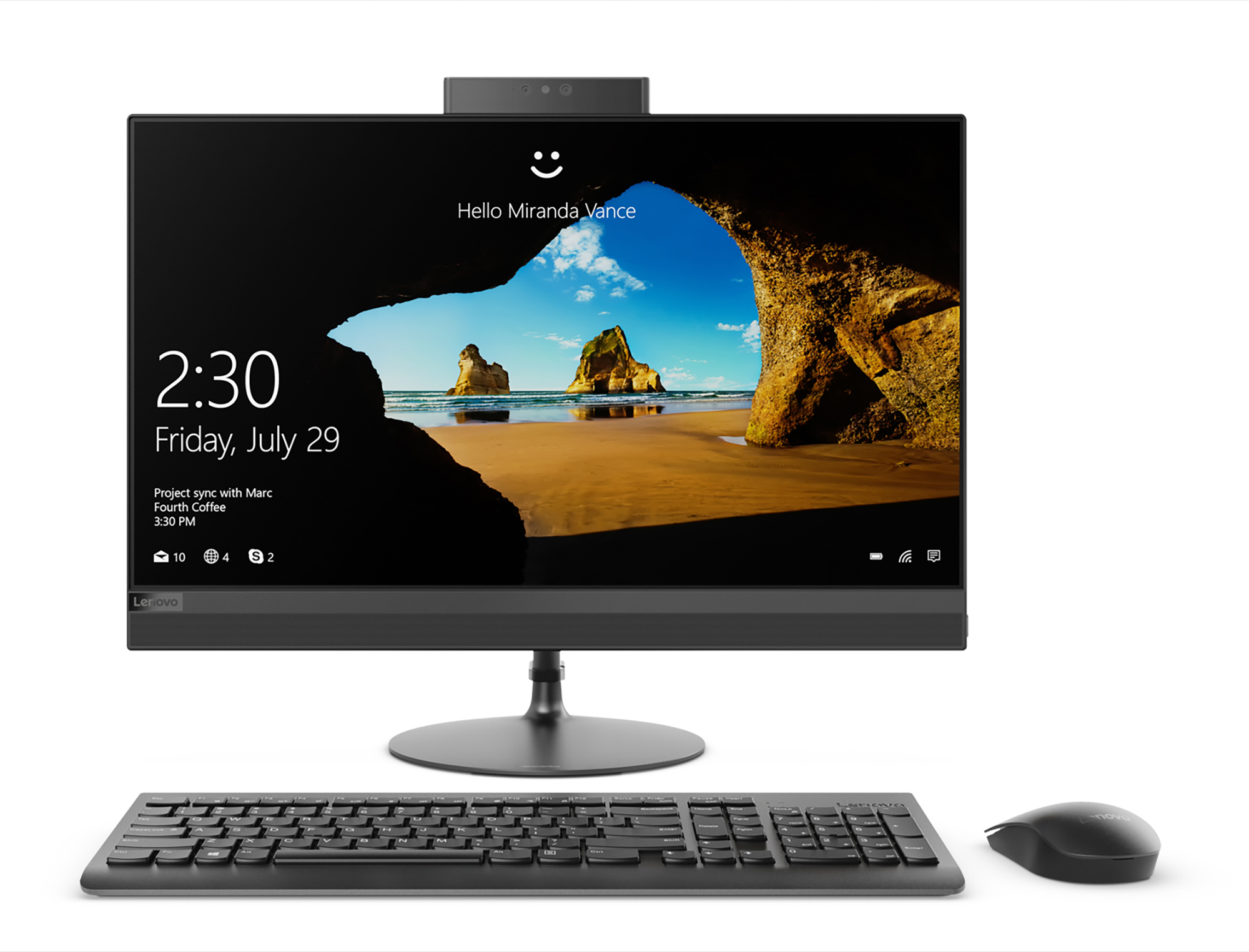 Фото  Моноблок Lenovo ideacentre 520-22 Black (F0D6003FUA)