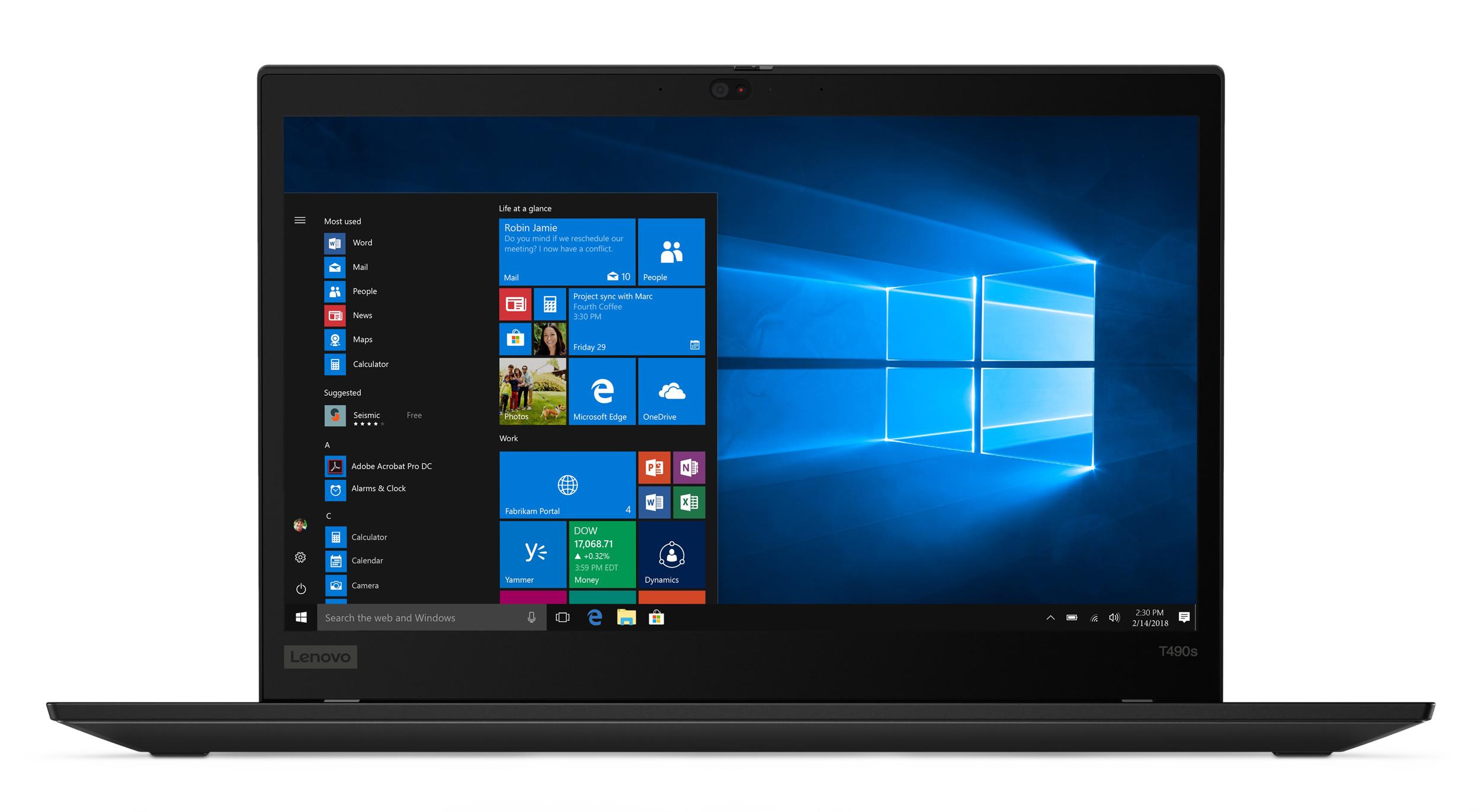 Фото  Ноутбук ThinkPad T490s (20NY000GRT)