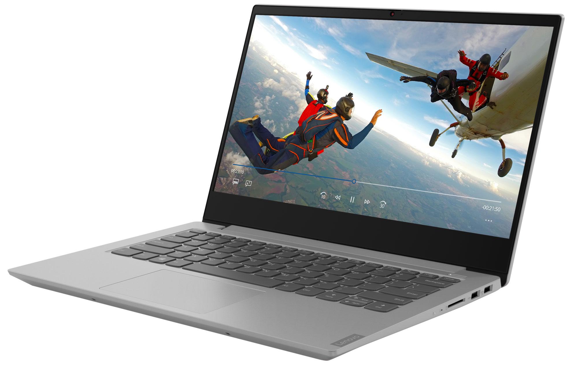 Фото  Ноутбук Lenovo ideapad S340-14IWL Platinum Grey (81N700B4RE)