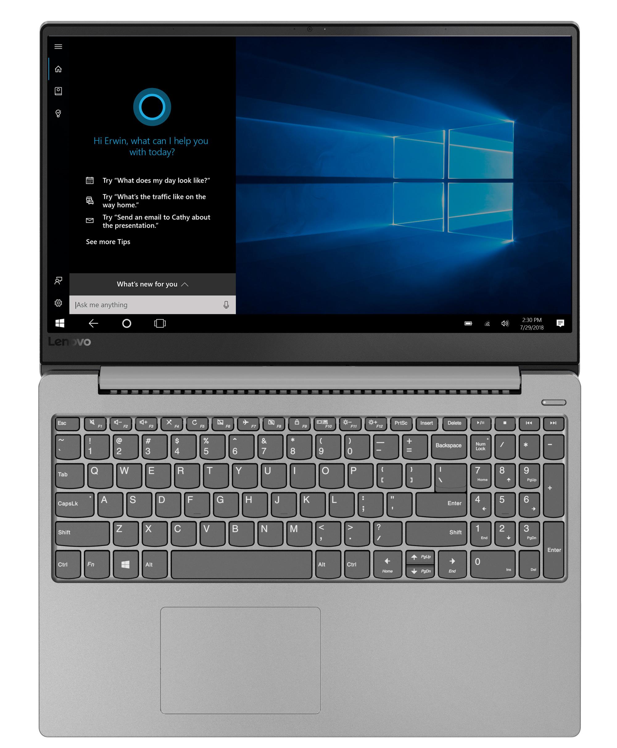 Фото  Ноутбук Lenovo ideapad 330s-15IKB Platinum Grey (81F500PKRU)