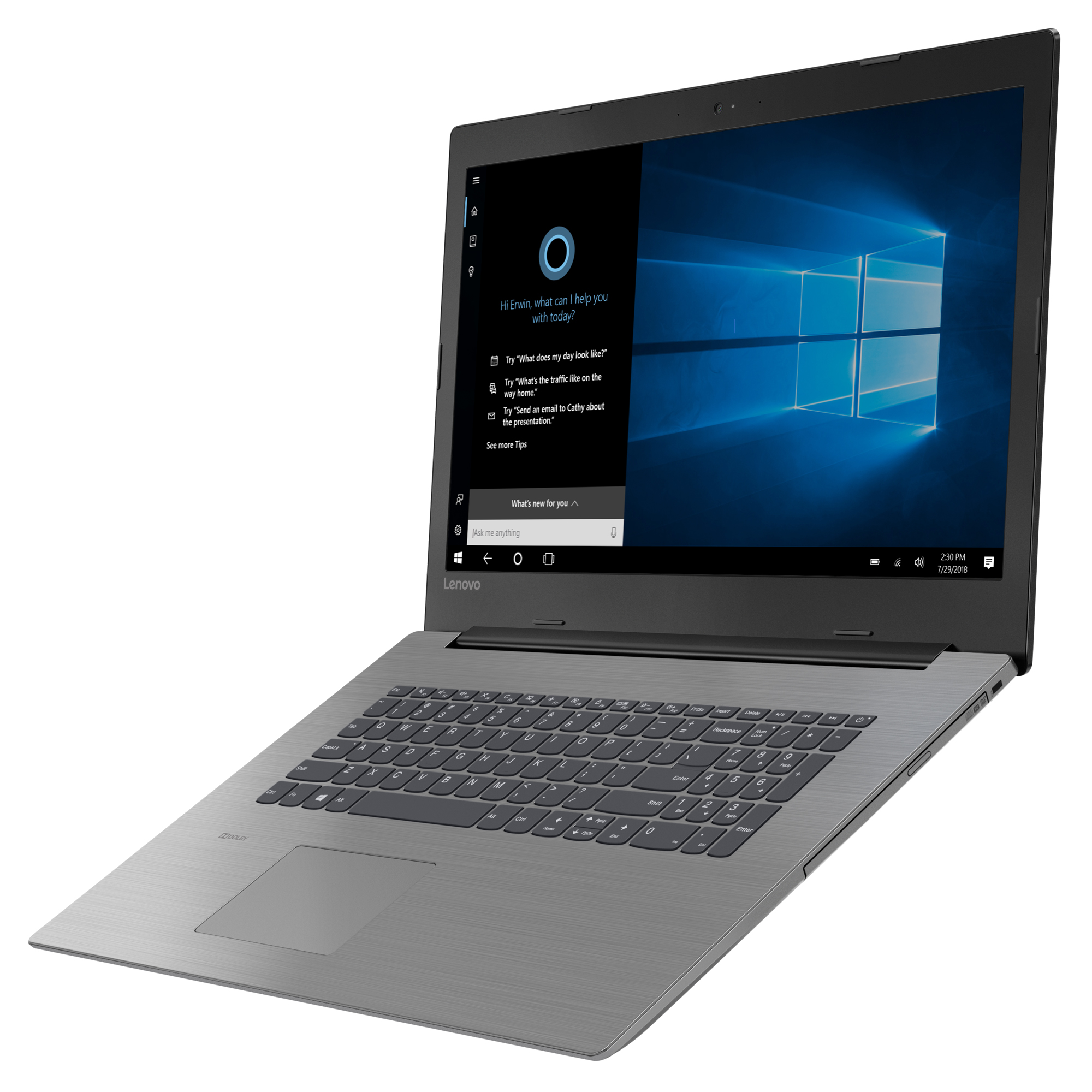 Фото  Ноутбук Lenovo ideapad 330-17AST Onyx Black (81D7002SRU)