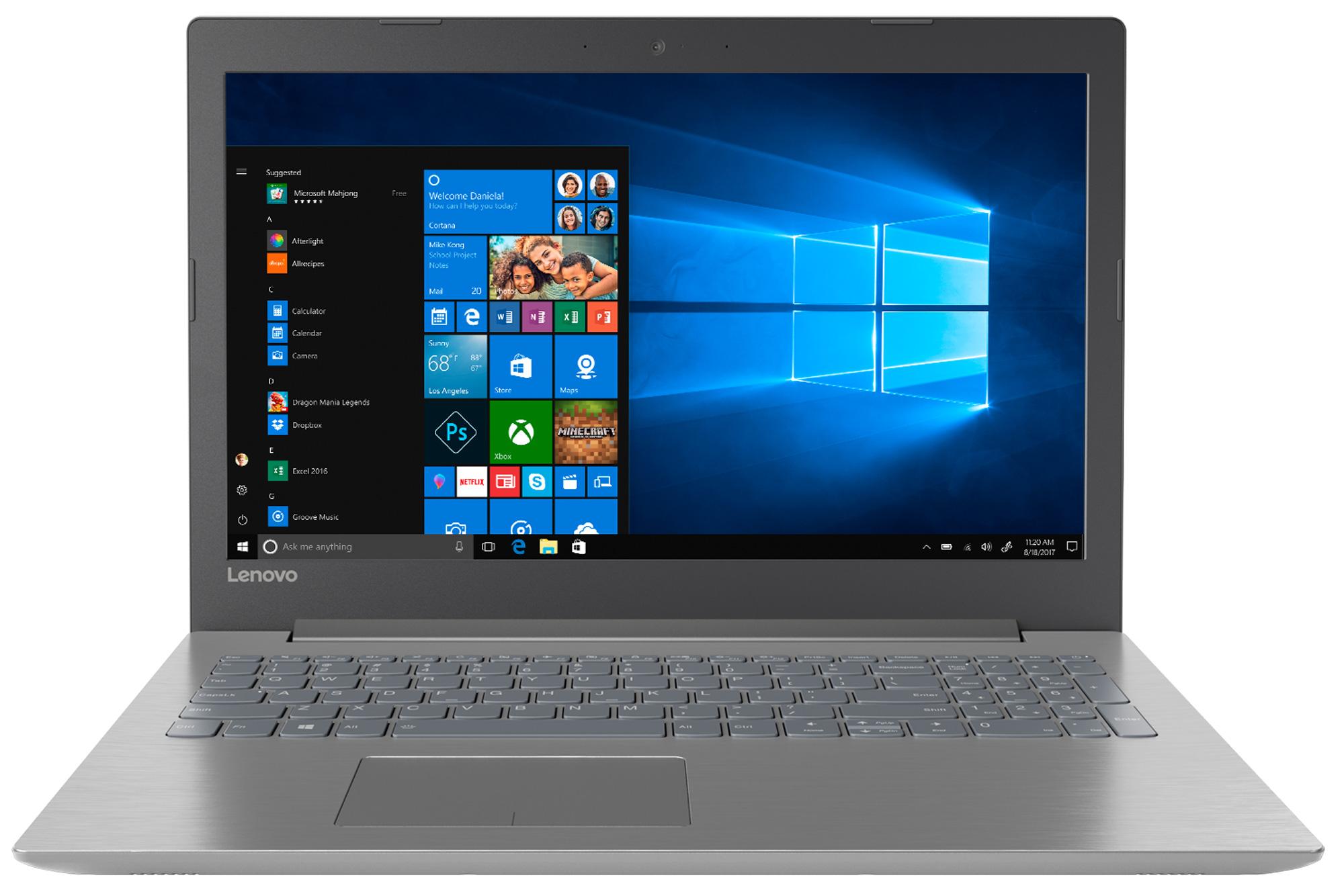 Фото  Ноутбук Lenovo ideapad 320-15ABR Onyx Black (80XS000ARU)