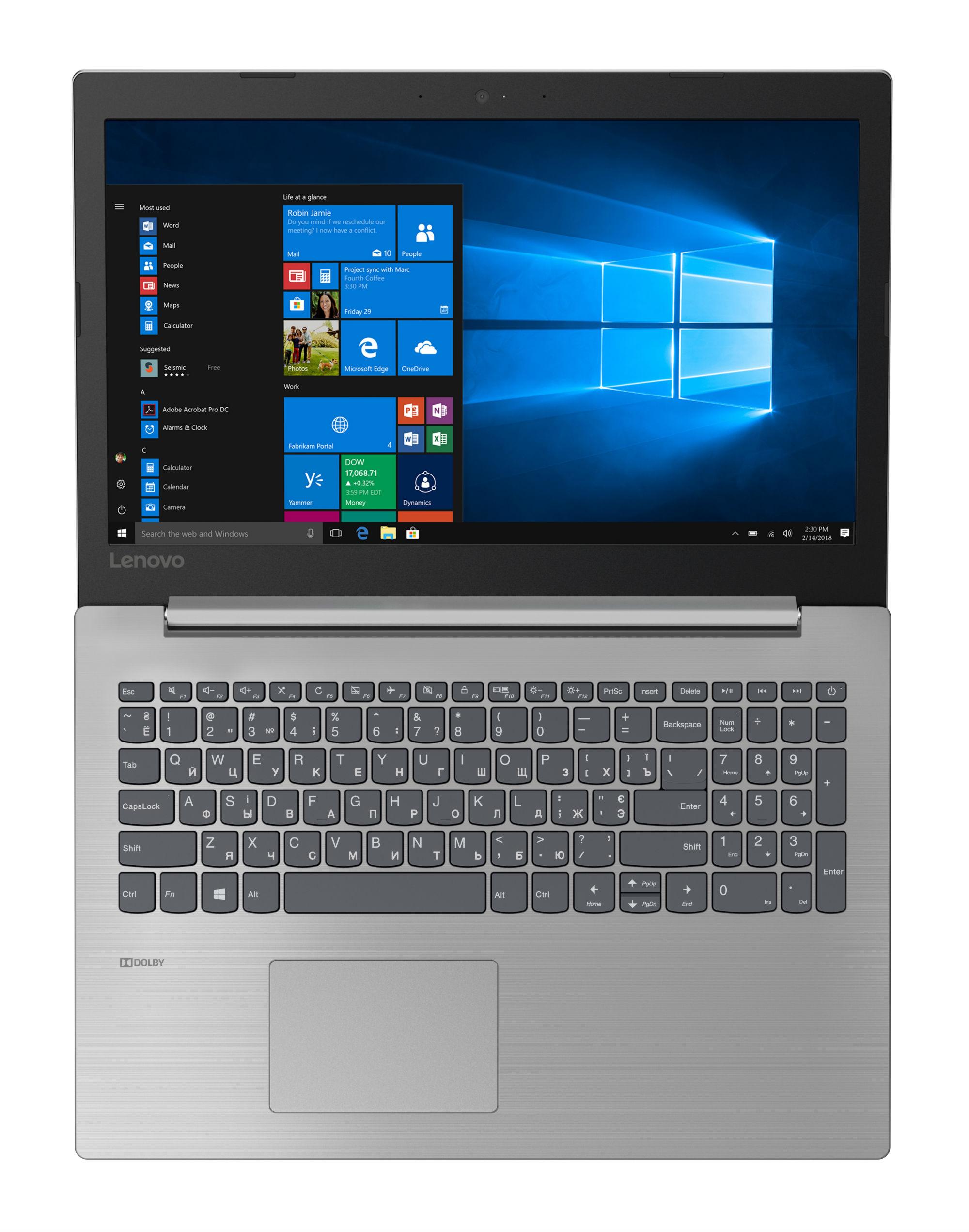 Фото  Ноутбук Lenovo ideapad 330-15IKB Platinum Grey (81DE02R6RU)