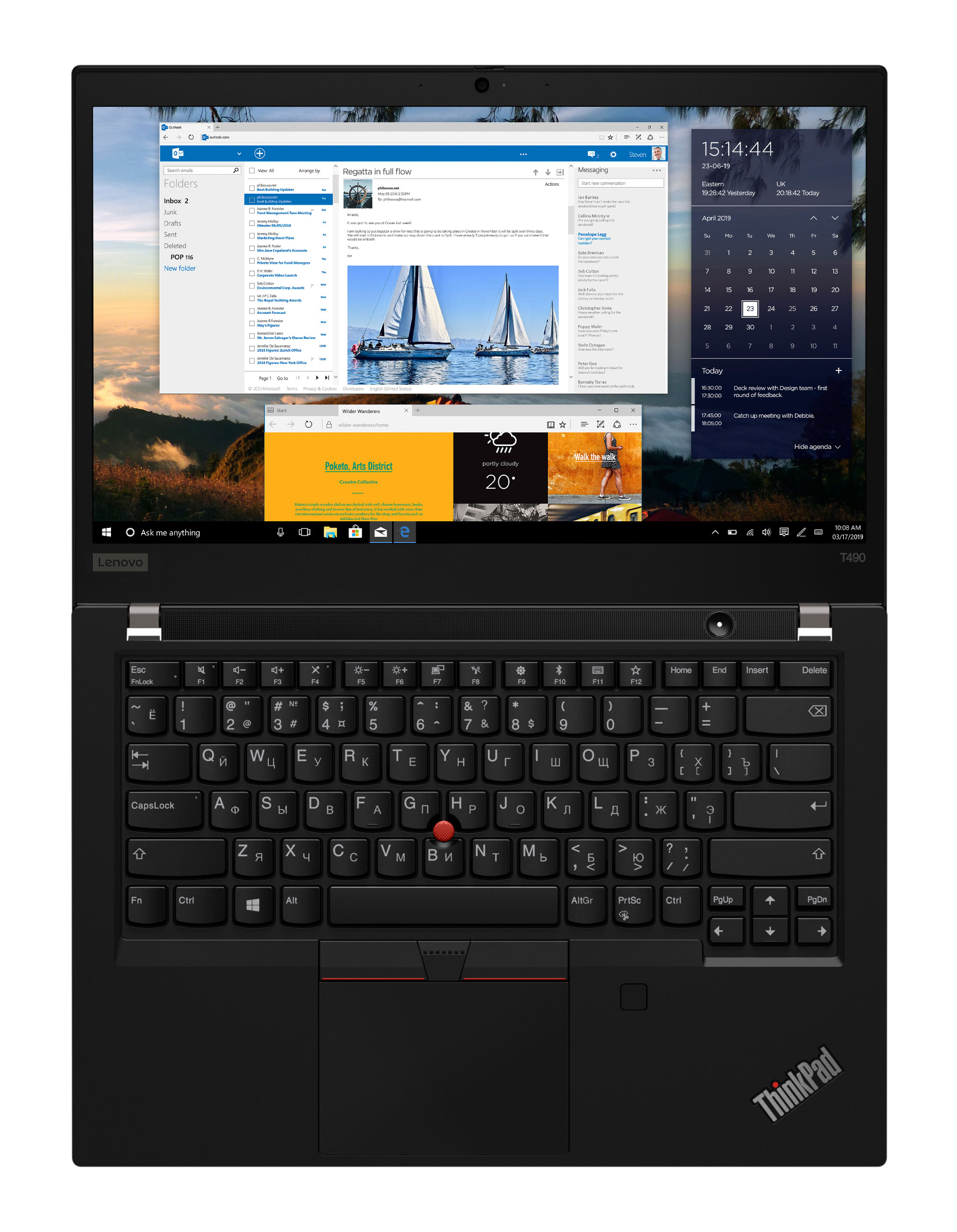 Фото  Ноутбук ThinkPad T490 (20N2000QRT)