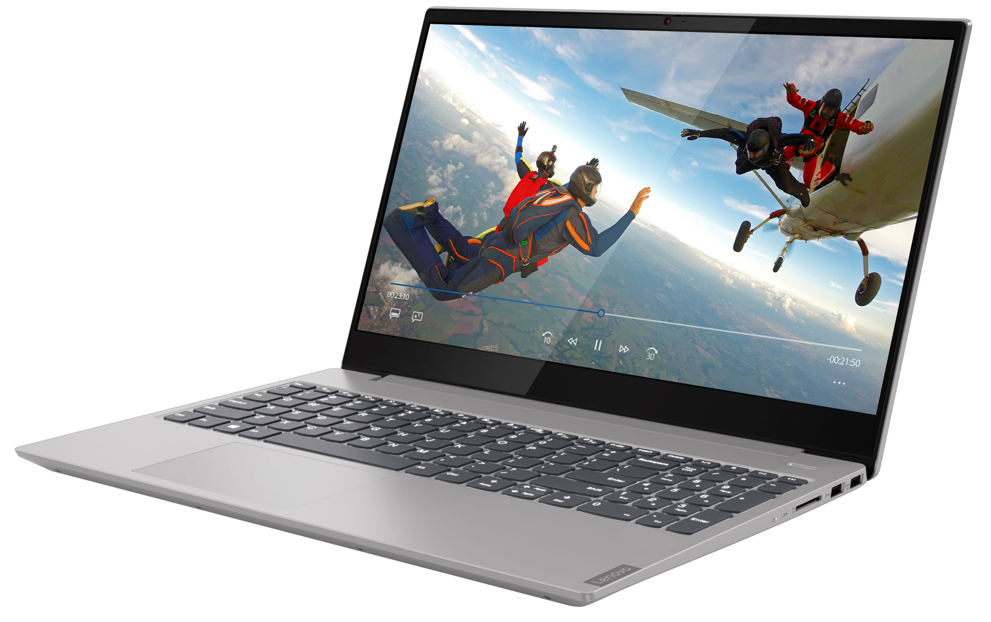 Фото  Ноутбук Lenovo ideapad S340-15IML Platinum Grey (81NA009HRE)