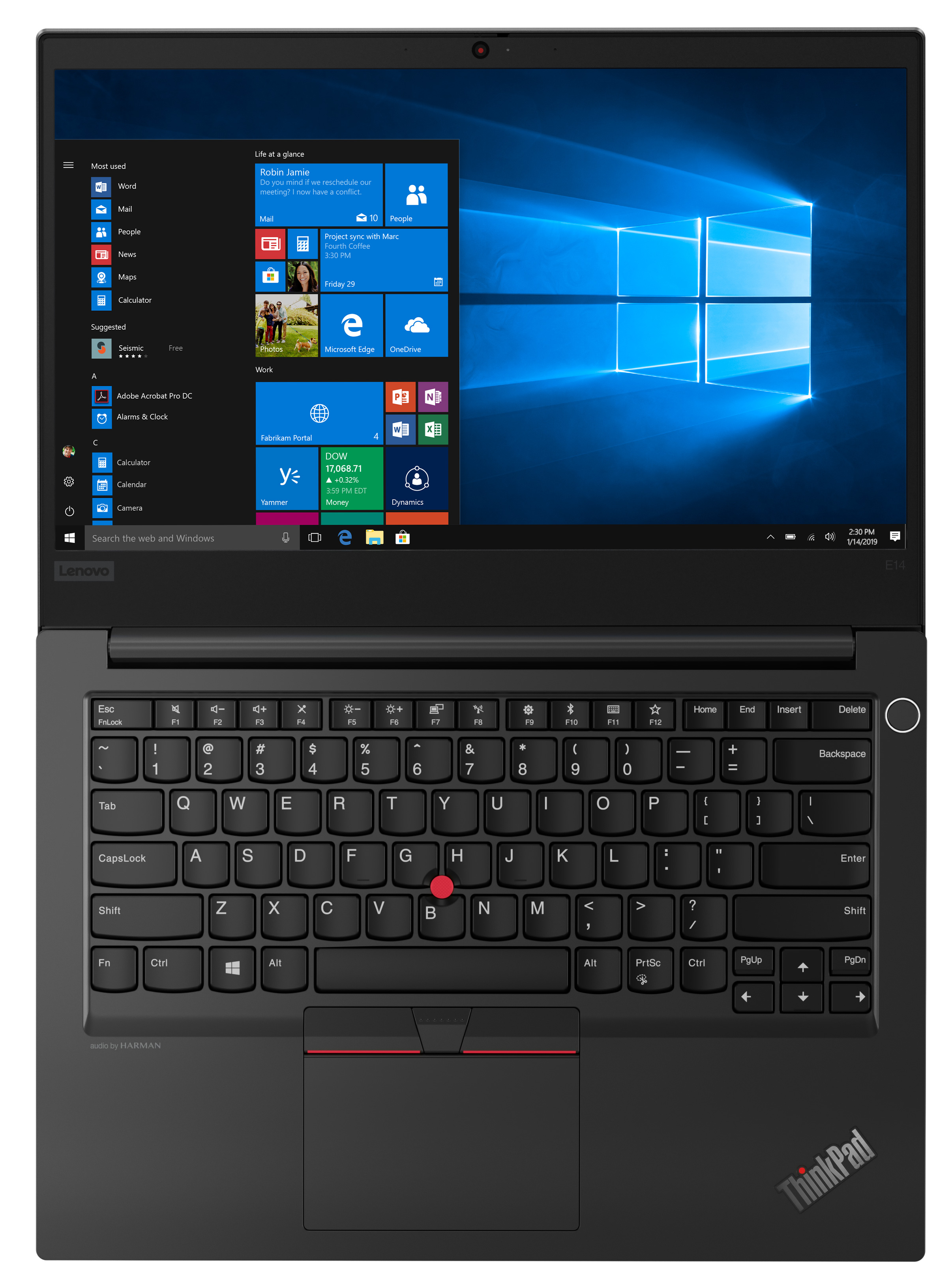 Фото  Ноутбук ThinkPad E14 (20RA002RRT)