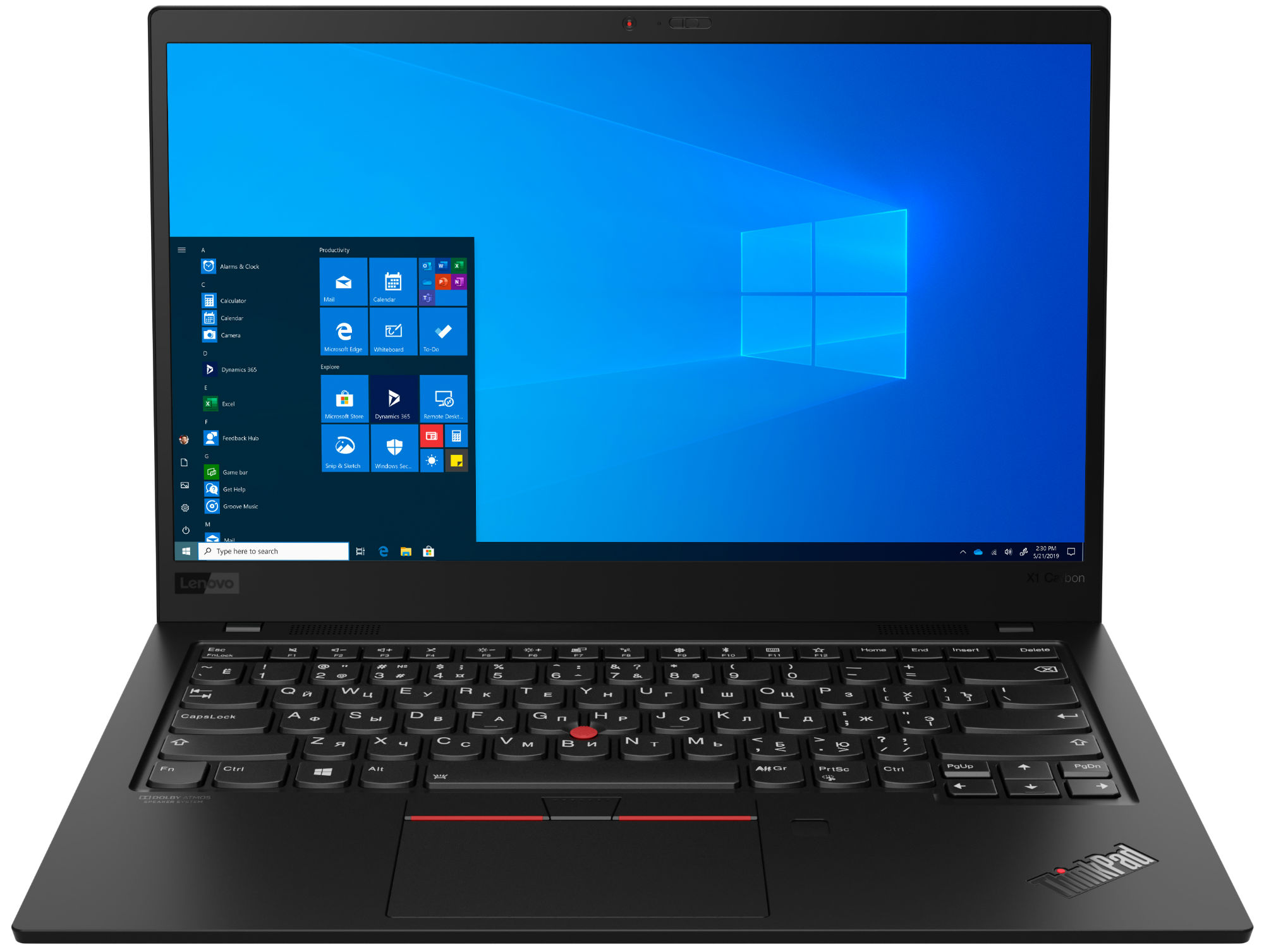 Фото  Ультрабук ThinkPad X1 Carbon 7th Gen (20QD0038RT)