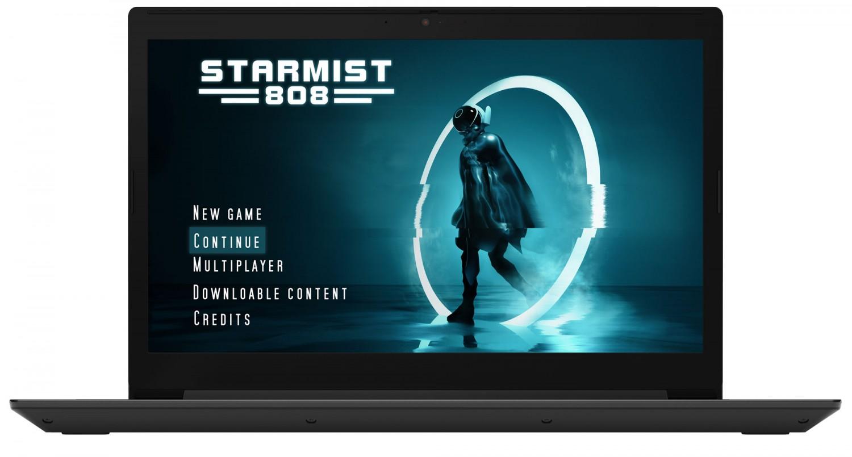 Фото  Ноутбук Lenovo ideapad L340-17IRH Gaming Granite Black (81LL003SRK)