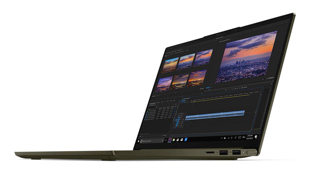 Фото  Ноутбук Lenovo Yoga Slim 7i 14IIL05 Dark Moss (82A100CDRE)