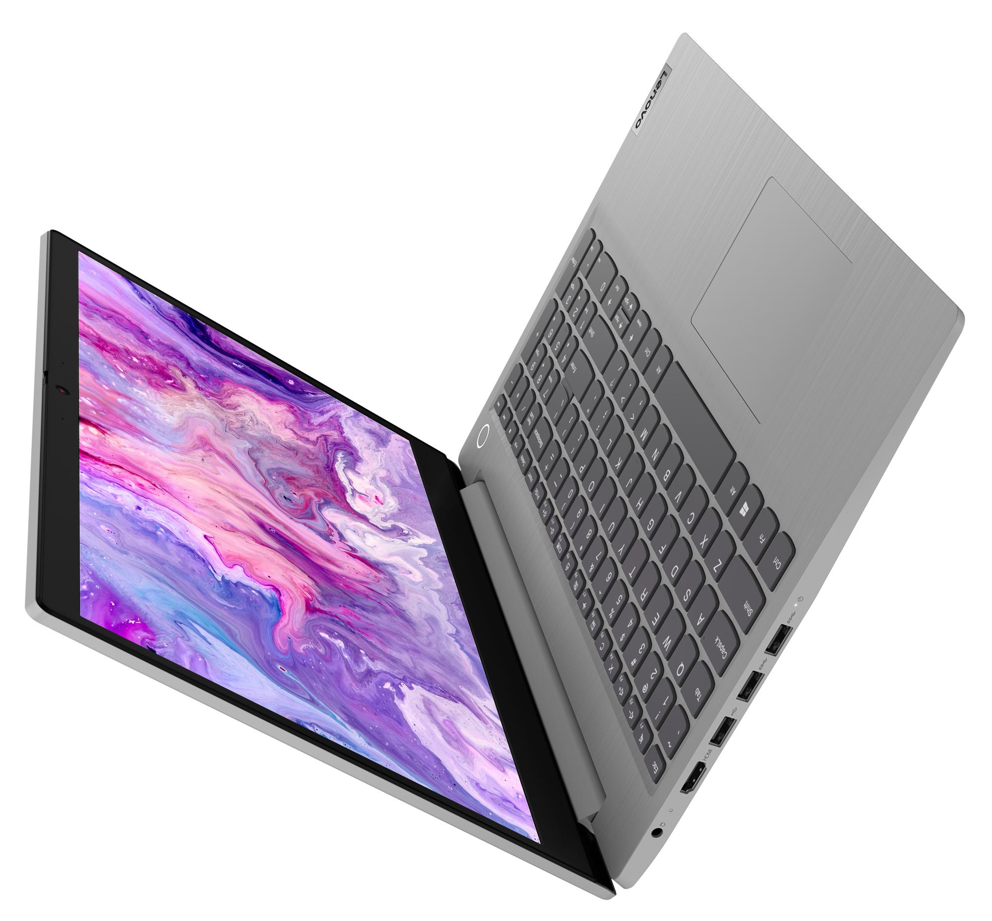 Фото  Ноутбук Lenovo ideapad 3i 15IML05 Platinum Grey (81WB00LWRE)