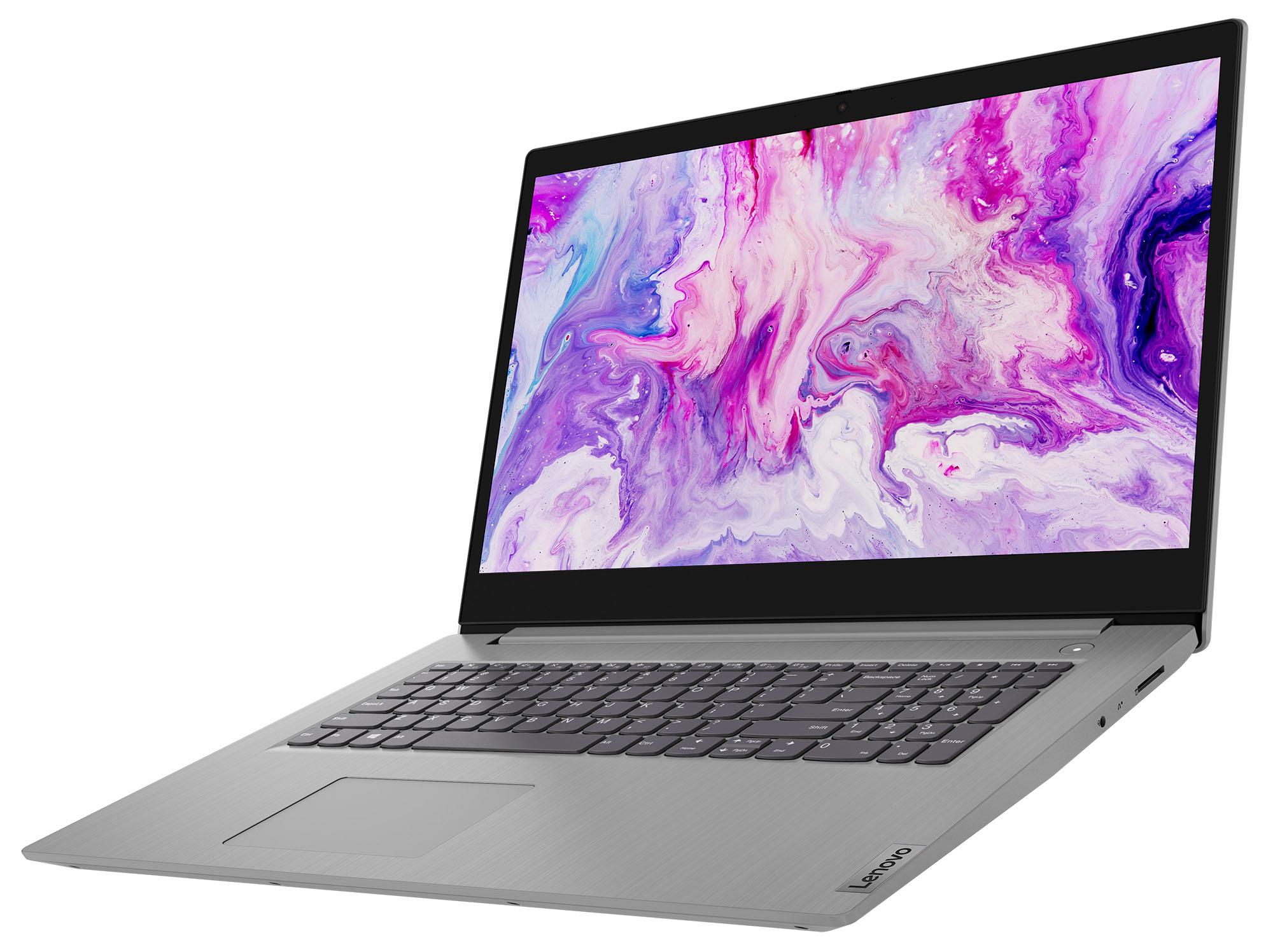 Фото  Ноутбук Lenovo ideapad 3i 17IML05 Platinum Grey (81WC009VRE)