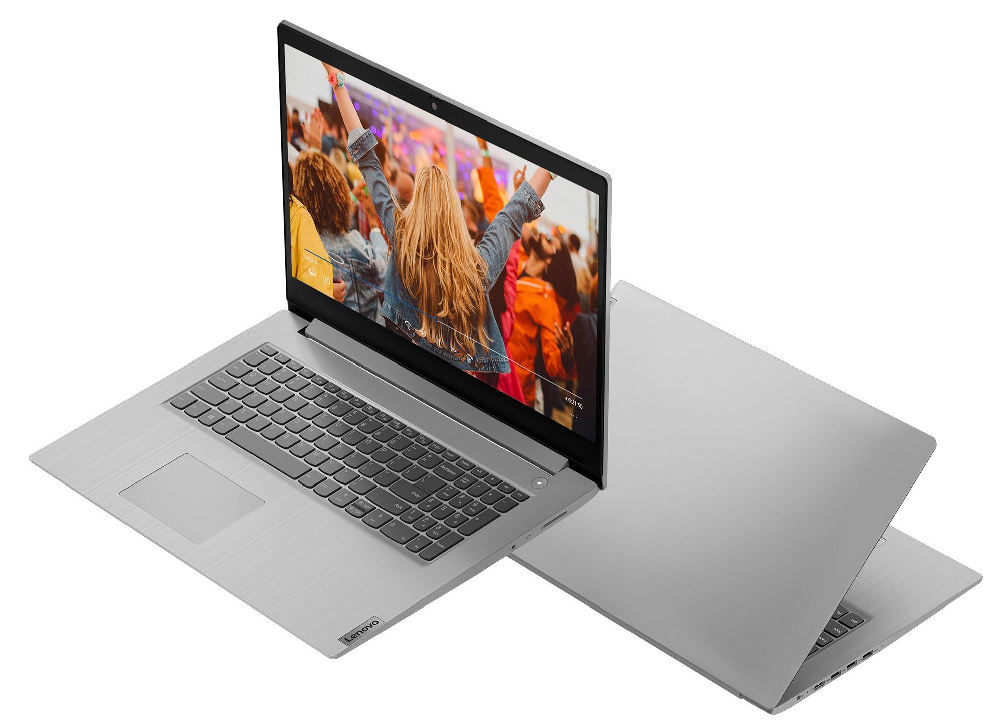 Фото  Ноутбук Lenovo ideapad 3i 17IML05 Platinum Grey (81WC009JRK)